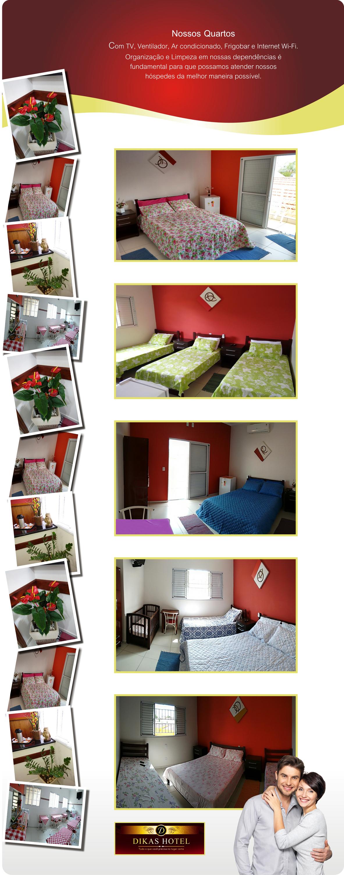 Foto da pagina dos quartos